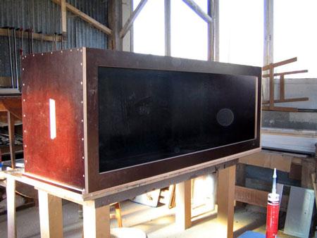 contruction d'un aquarium en bois